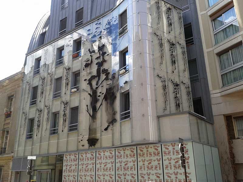 système fixation façade verre