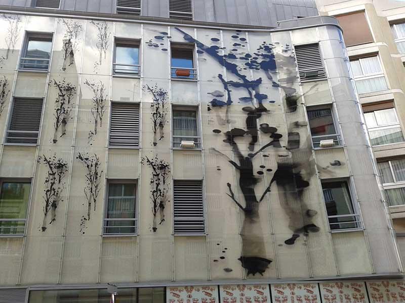 Poe façade verre